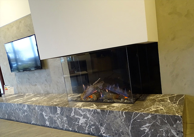 3 Sided Gas Fire