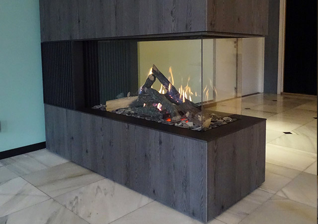 Gas Fire Room Divider