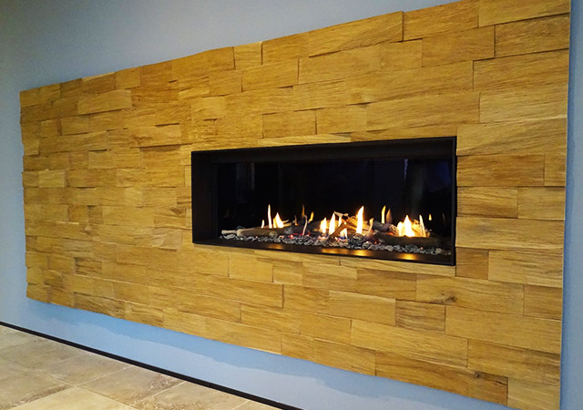 Inset Gas Fire Wood Surround